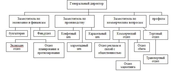 Анализ организационной структуры ЗАОр НП Конфил курсовая по  2 1 Анализ организационной структуры ЗАОр НП Конфил Организационная